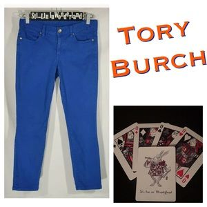 Tory Burch Cropped Skinny Jeans 26 X 26 Blue